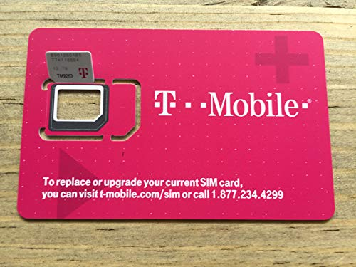Authentic Official T-Mobile SIM Card Micro/Nano/Standard GSM 4G/3G/2G LTE Postpaid SIM Kit Unactivated Talk Text Data & Hotspot
