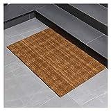 K.W Home Coir Doormat con Respaldo de PVC Resistentes a la Intemperie, Resistente a la Intemperie, Uso en Interiores y Exteriores (Color : Marrón, tamaño : 45cmx75cm)