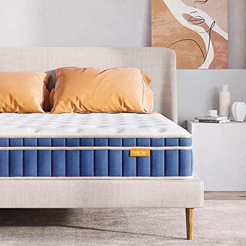 Sweetnight King Size Mattress, 8 Inch 5FT Memory Foam Spring Hybrid...