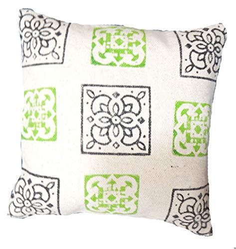 Handicraft Bazarr Moroccan Indoor Outdoor Floor Sofa Sham Euro Throw Pillow Case Boho Vintage Cotton Cushion Cover Hand Block Printed Design Throw Cushion Cover