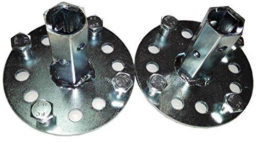 Bricoferr PT600041 Eje hexagonal de 23 mm para ruedas metálicas (aperos de motoazada)