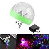 OurLeeme Mini-Discoball mit 4 LED, Discoball Stromversorgung über USB, Bühnenlicht, RGB,...