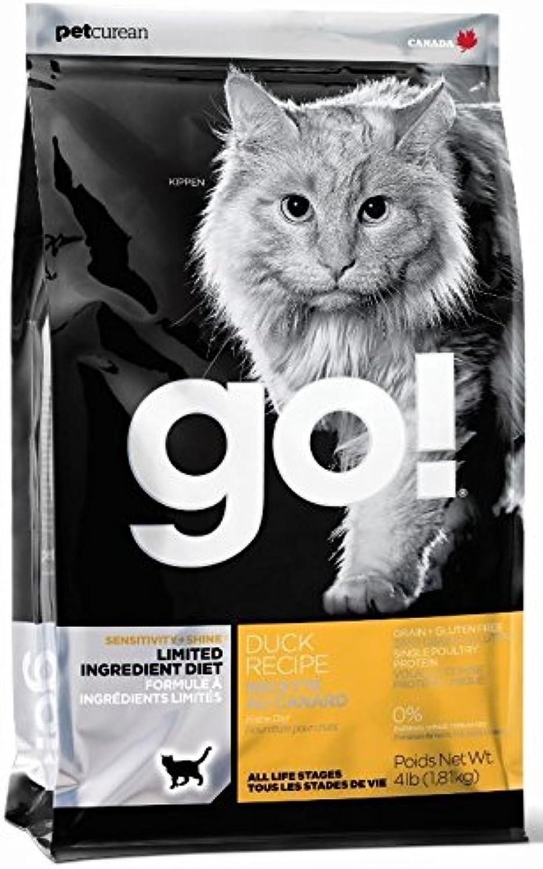 PETCUREAN 815260001496 GO  Sensitivity + Shine L.I.D. Grain Free Duck Recipe Dry Cat Food, 4 lb