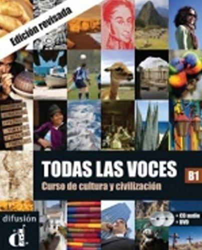 Todas Las Voces B1 Curso De Cultura Y Civilizacion 1dvd 1 Cd Audio Par Aa Vv