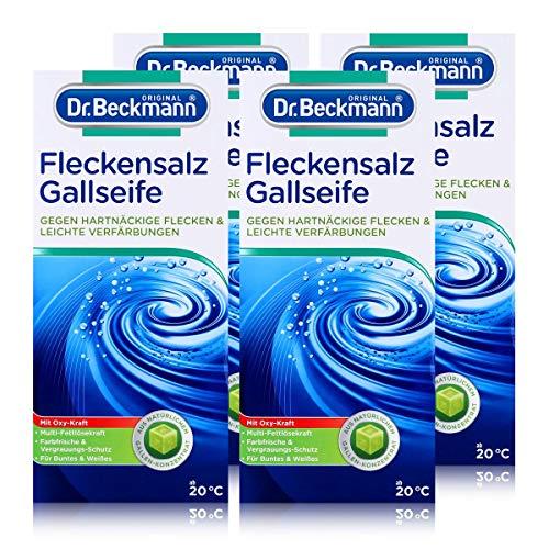 Dr. Beckmann Fleckensalz   gegen hartnäckige Flecken und leichte Verfärbungen   für die Waschmaschine und zum Einweichen   mit Gallseife, 4er Pack (4x 500 g)