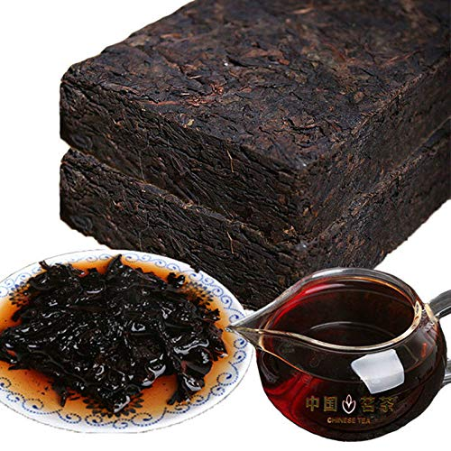 200g (0.44LB) Maduro Pu'er Chinese Puer Tea Té de ladrillo Viejo Pu-erh Árbol antiguo Pu'er tea Té negro Té chino Pu er tea Té maduro Puerh té Pu-erh té Pu erh tea cooked tea Té rojo
