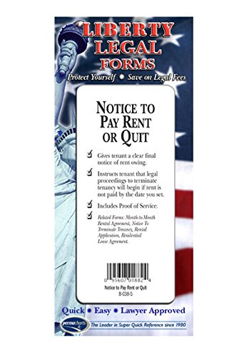 Notice to Pay Rent Form or Quit Rent Form - USA - Do-it-Yourself Legal Forms by Permacharts