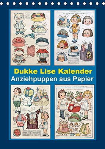 Dukke Lise Kalender - Anziehpuppen aus Papier (Tischkalender 2021 DIN A5 hoch)