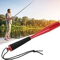 金属釣りバット、オフショア釣りのためのEVAアンチスライドハンドルフィッシングプリースト(赤)