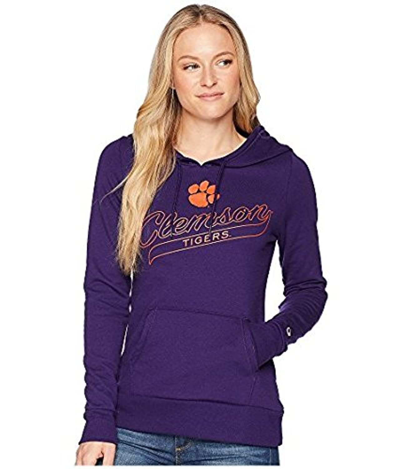 チャンピオン Champion College レディース パーカー スウェット Collegiate Purple Clemson Tigers Eco Univer LG Collegiate Purple [並行輸入品]