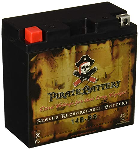Replacement 14B-BS Sealed AGM Motorcycle Battery - Rechargeable - Pirate Battery
