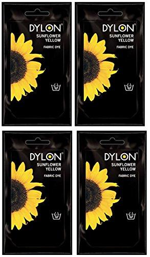 Opakowanie 4 barwników do tkanin i ubrań Dylon tylko do prania ręcznego - 05 słonecznikowy żółty