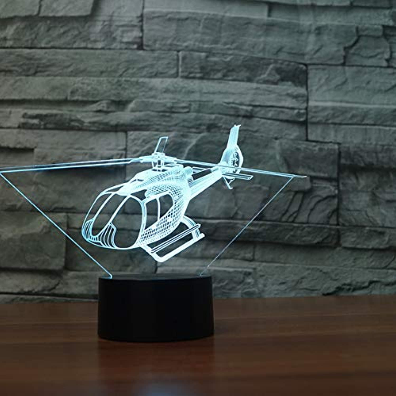 Wuqingren 3D Nachtlicht LED Remote Touch Flugzeug Tischlampe 3D Lampe 7 Farbwechsel USB Innenlampe,A3,Blautooth Speakers