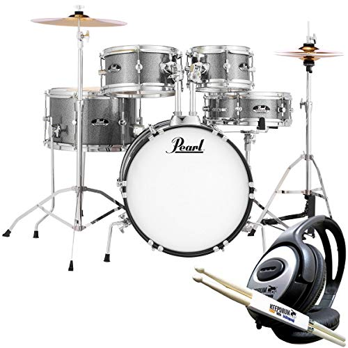 Pearl Roadshow RSJ465C/C708 Junior Schlagzeug Grindstone Sparkle + keepdrum Kopfhörer u. Sticks