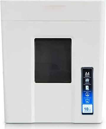 Covan_CN Ger�uschloser Hochleistungs-Aktenvernichter, zerkleinert bis zu 10 Blatt Pape, CDs/DVDs und Kreditkarten, Partikelschnitt, 10-Liter-Abfalleimer, Papierzufuhrbreite 220 mm (Wei�)