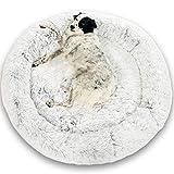Lit Coussin Chien Chat Apaisant 115cm DODO Donut™ Confort+ Rond Cocoon Puppy Love Panière Anti Stress Panier Petit Moyen Grand Soutien Orthopédique Mousse 23 kg/m3 Matelas Dehoussable Lavable XXXL