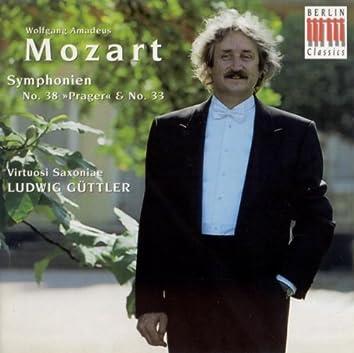 """Wolfgang Amadeus Mozart: Symphonies Nos 33 and 38, """"Prague"""" (Virtuosi Saxoniae, Guttler)"""