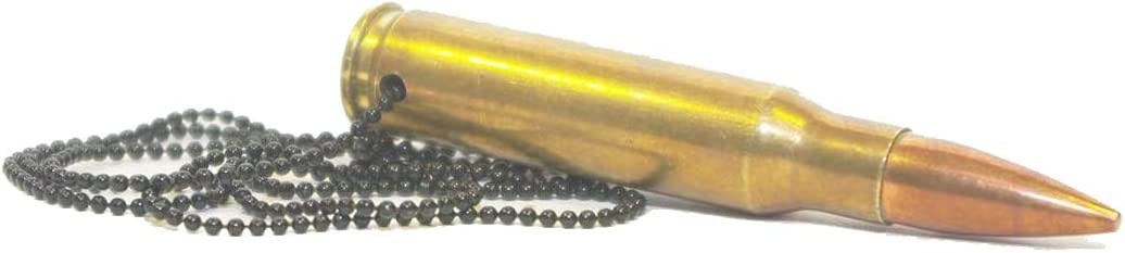 echte Patronenh/ülsen einmal abgefeuert. 7.62x39mm.223R.308 Cobra Tactical Solutions Halsketten Verschiedene Kaliber erh/ältlich Messing.223R