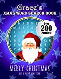Grace's Xmas Word Search Book: Over 250 Large Print Puzzles For Grace / Wordsearch / Santa Bubble Theme