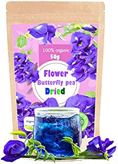 Premium Butterfly Pea Tea Super Dried Flowers 100g (50g x 2 Pack) Origin in Thailand