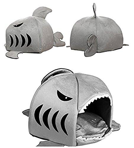 niceEshop(TM) Hai Form Haustier Hund Katze Nest mit Unterlage - 2