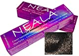 Teintures professionnelles SANS AMMONIAQUE, PPD ou MEA - 4.07- Châtain moyen chaud - NEALA 100ml.