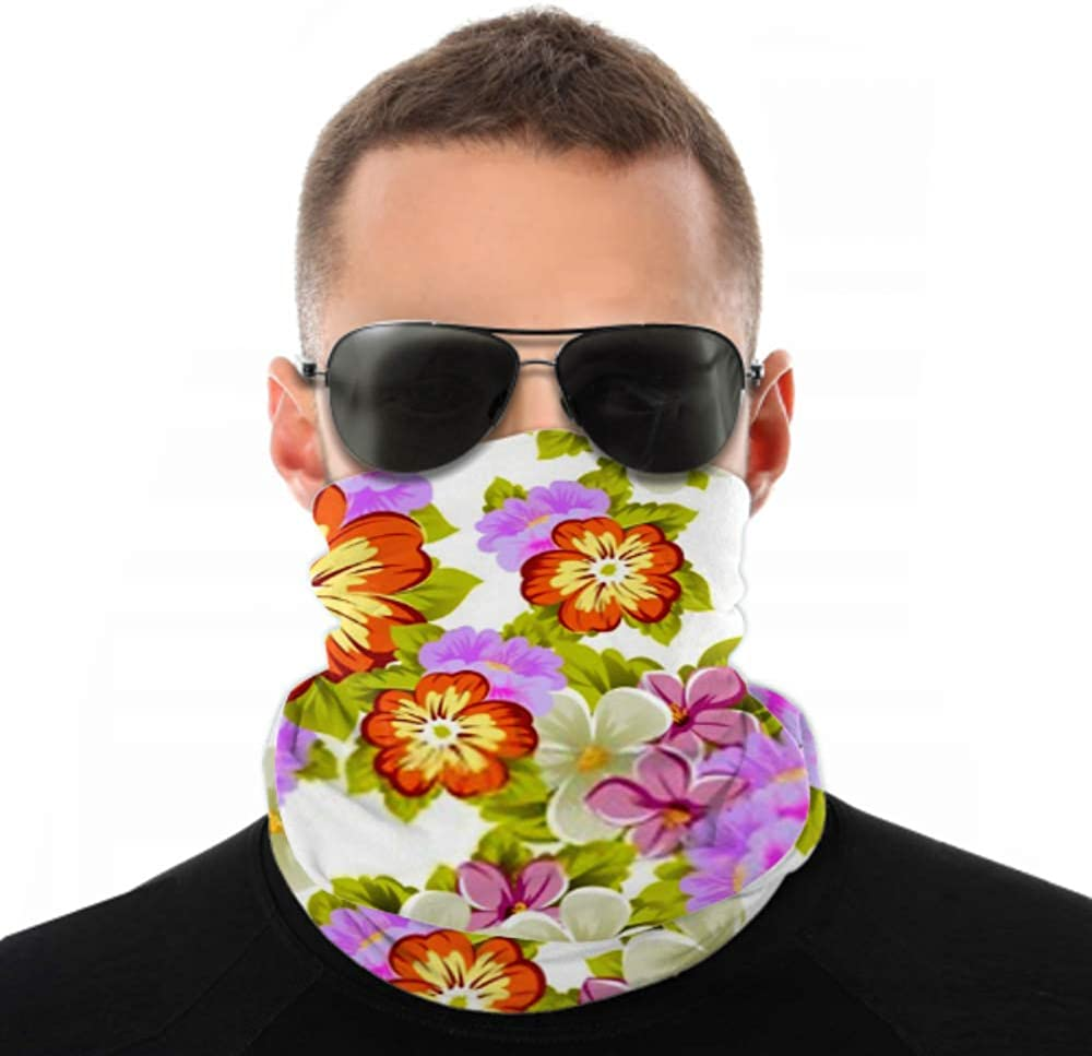 Headbands For Men Women Neck Gaiter, Face Mask, Headband, Scarf Abstract Beautiful Floral Seamless Pattern Your Turban Multi Scarf Double Sided Print Hair Wrap For Sport Outdoor