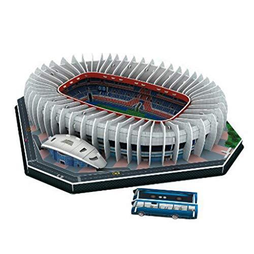 DIY 3D Puzzle Jigsaw World Football Stadium Soccer Playground Edificio ensamblado