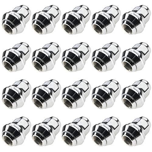 Carbonado 20 tuercas de rueda M12 x 1,5 con anillo cónico móvil...