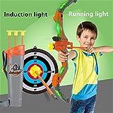 Arco y Flecha niños Set Niños de tiro con arco arco y la flecha del arco conjunto de juguete juguetes de simulación con 3 duradero ventosa Flechas y blanco for niños y niñas Flechas y blanco Juguete D