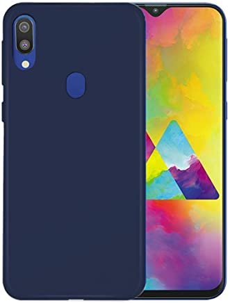 Tarkan Royal Ultra Slim Flexible Soft Back Case Cover 360 Degree Coverage for Samsung Galaxy M20 (Blue)