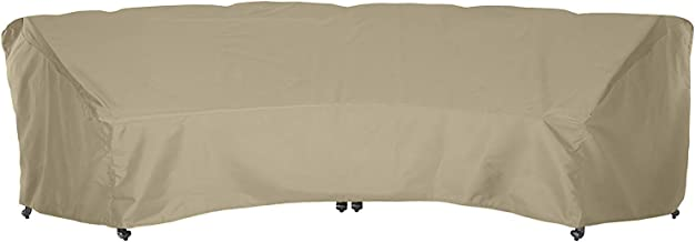 SunPatio OutdoorCrescent CurvedSectionalSofa Coverwith Seam Taped, 190