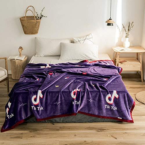 PengMu deken van zachte microvezel, warm, dik coral-fleece, kan niet toelaten om de bolletjes violette noten op je bank, bank of bed te verlichten.