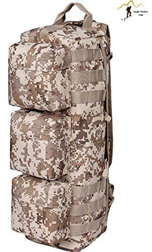 Jungle Oxford Sac à dos Petit sac d'escalade extérieur étanche Package Package d'alpinisme Voyage Sac à bandoulière Molle tactique poches Wild Sac à dos Sac à dos randonnée, Desert Digital