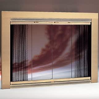 Copperfield 52110 Portland Willamette Antique Brass Glass Door, Model 3927, 39 1/16 x 27 3/8 Inchh