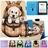 Kindle Paperwhite 1/2/3/4 Case,Artyond PU Leather Case With Auto Wake/Sleep Smart Card Slot Case For Amazon Kindle E-Reader (Fit 2012 2013 2015 2016 Version & 10th Gen-2018 Release) (Cute Dog)