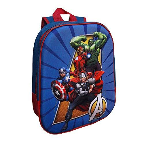 Rucksack Asilo 3D Avengers Marvel Hulk Captain America Thor Iron Man Schultasche 32 cm - AV0636