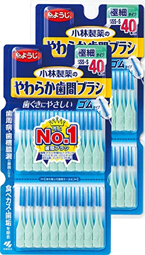 小林製薬 やわらか歯間ブラシ 細いタイプ SS-M 40本×...