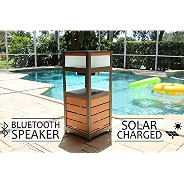 SOLAR POWERED OUTDOOR SPEAKER , BLUETOOTH PATIO SPEAKER AND ITS A TABLE - PORTICO SOLAR SOUND BY FRESHETECH