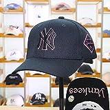 Gorra de béisbol, letra NY de lana, capota rígida, insignia bordada, gorra de béisbol, deportes casuales, moda coreana, protección solar, gorra hiphop