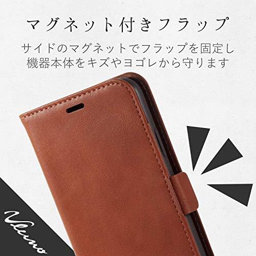 エレコムiPhoneXSケース手帳型レザーICカード収納サイドマグネットスタンド機能付きブラウンPM-A18BPLFYBR