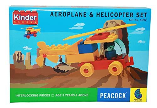 Peacock Kinder Helicopter Set Building Block Game