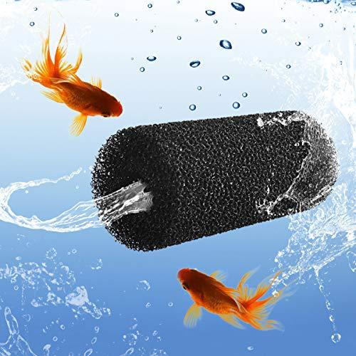 WEAVERBIRD 4 Stück Aquarium Filterschwamm Fisch Tank Vorfilter Schwämme Filter Schutz vor versehentlichem Aufsaugen von Fischen Garnelen Kleintieren oder Steinen (Groß)