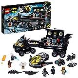 LEGO Super Heroes - Batbase Móvil, Set de Batman de construcción a partir de 8 años, incluye camión y moto de juguete, minifiguras de Batgirl, Mr Freeze, Man-Bat y Bronze Tiger (76160)