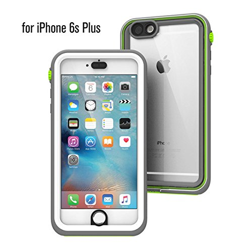 Waterproof Case for iPhone 6s Plus, Shock Proof, Drop Proof by Catalyst for iPhone 6s+ with High Touch Sensitivity ID (Green Pop)
