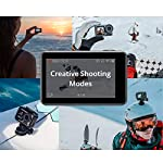 "Dji osmo action - 4k action cam 12mp digital camera with 2 displays 36ft underwater waterproof wifi hdr video 145° angle… 16 dual screens: osmo action's dual screens allow you to capture it all with the touch of a button. A vivid front screen lets you frame yourself effortlessly in any setting, while the back screen delivers a crystal-clear, hyper-responsive display. This durable, versatile action camera is jam-packed with advanced technology that lets you spend less time worrying about equipment and more time living the action. The rocksteady technology combines eis with complex algorithms, delivering stable, shake-free footage no matter how heavy the action gets. Action camera with 1/2. 3"" cmos sensor, 12mp, wide-angle 145° that allows you to shoot 4k hdr videos."