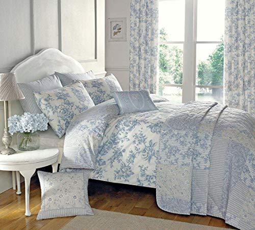 Dreams 'n' Drapes Malton Elegant Floral Design Duvet Cover Set In Blue King