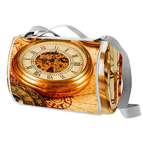 Xingruyun Esterilla Playa Relojes clásicos Relojes Alfombra de Playa Manta Picnic Impermeable...