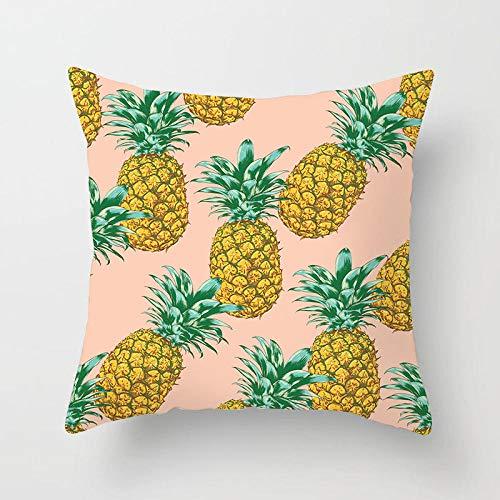 45 × 45 cm Plantas tropicales modernas Hojas Funda de cojín Agave Cactus Monstera Estampado Funda de almohada blanca simple Sofá Funda de cojines para sofá-7