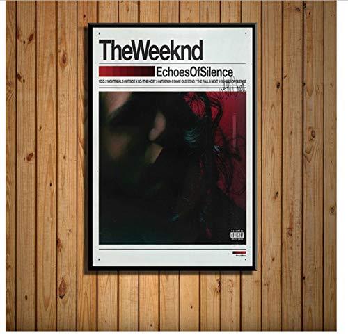 NVRENHUA Popular Album Music Cover Hip Hop Pop Music R & B Art Painting Canvas Canvas Poster Wall Home Decoration 50X70 Cm Sin Marco